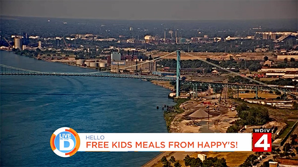 Happy's Pizza Free Kid Meals Featured on Local 4 Live in the D